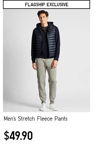 Men's Stretch FleecePants at $49.90