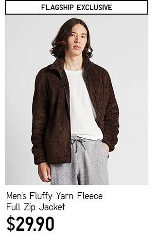 Men's Fluffy Yarn Fleece Full-Zip Long Sleeve Jacket at $29.90