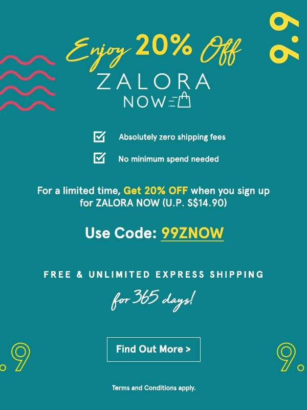 Enjoy 20% Off ZALORA Now!