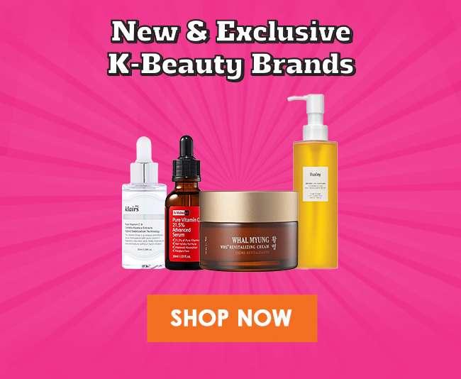 New & Exclusive K-Beauty Brands