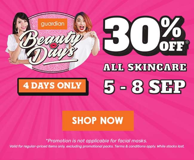 Beauty Days | 30% off ALL Skincare | 5-8 Sep
