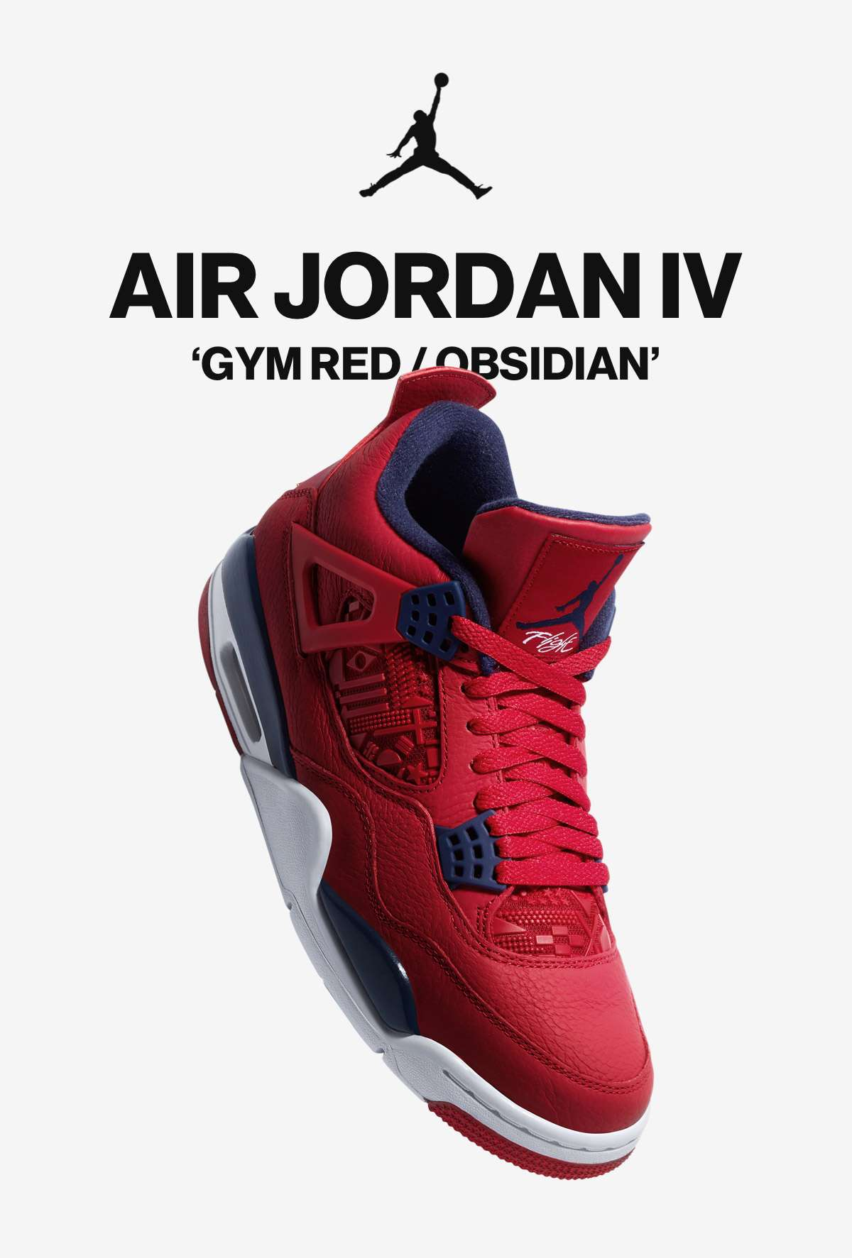JORDAN | AIR JORDAN IV | 'GYM RED/OBSIDIAN'