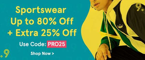 Sportswear Up to 80% Off + EXTRA 25% Off!