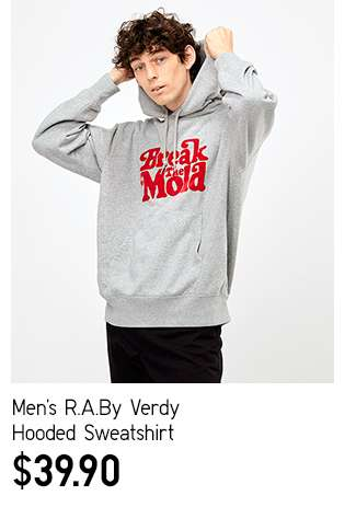 Men's R.A.By Verdy Hooded Sweatshirt at $39.90