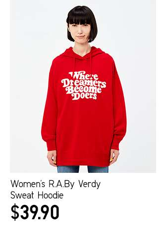 Women's R.A.By Verdy Sweat Hoodie at $39.90