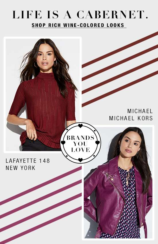 Wine-colored looks from top designers