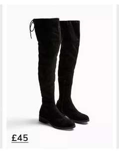OLIVIA Flat Over The Knee Boots