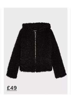 Black Hooded Teddy Coat