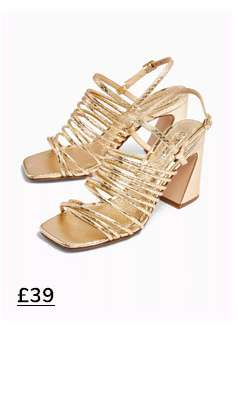SORBET Gold Multi Tube Sandals