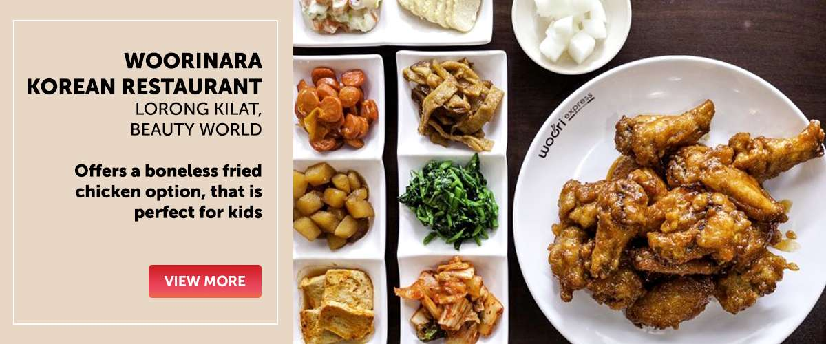 Woorinara Korean Restaurant - Offers a boneless fried chicken option, that is perfect for kids