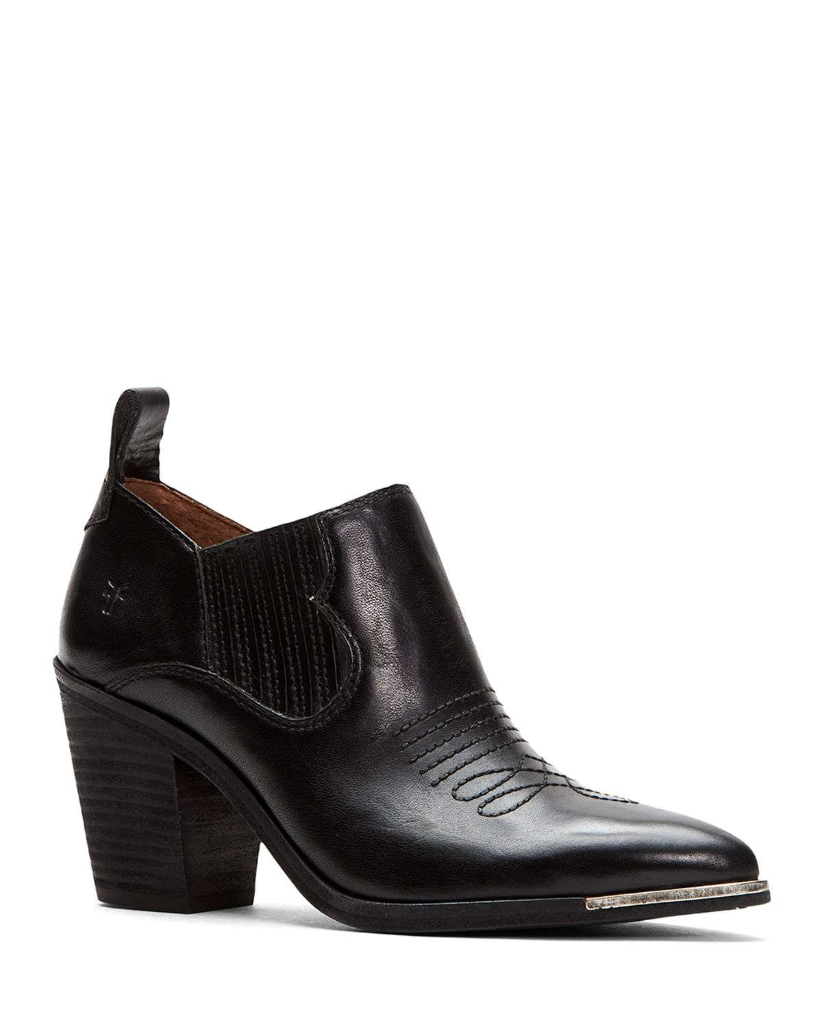 Faye Leather Ankle Booties