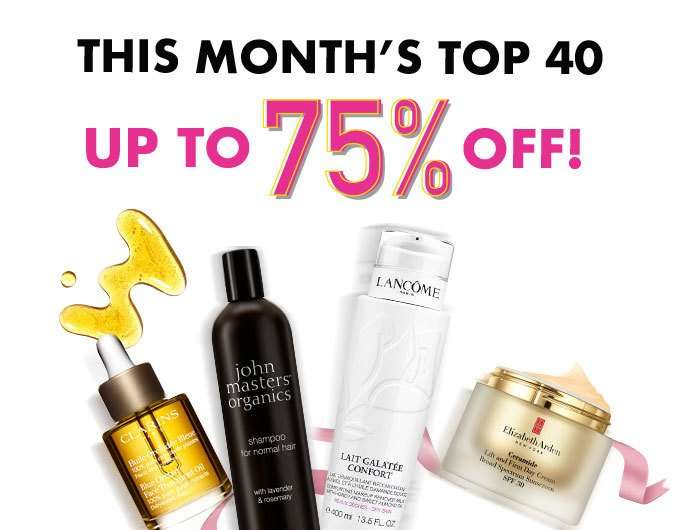 This Month's Top 40: Up to 75% Off!