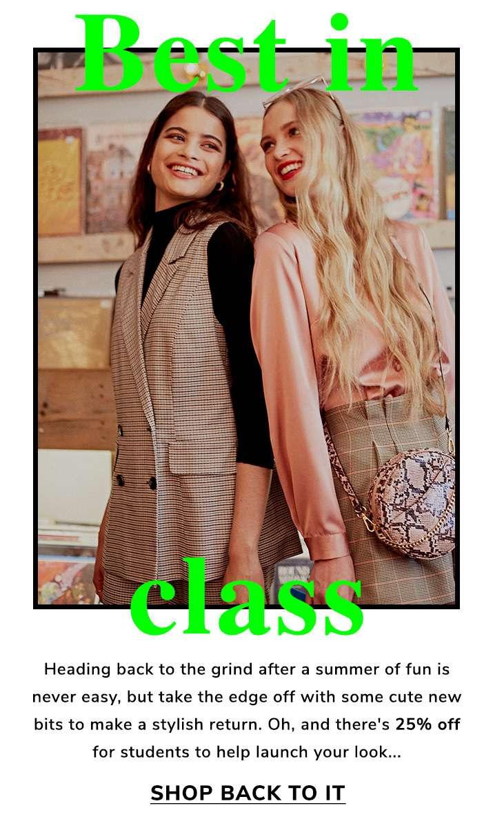 Best in class - Shop back to it