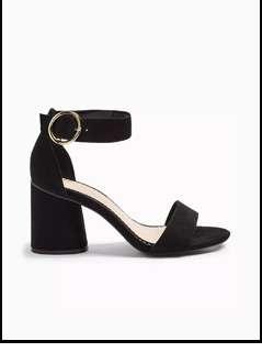 SORBET Black Multi Tube Sandals