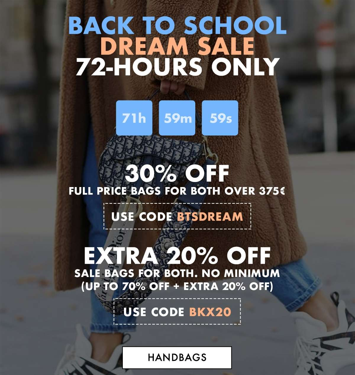 Back To School 72H-Only Event VIP Code Inside - HANDBAGS