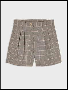 Camel Heritage Check Flippy Shorts