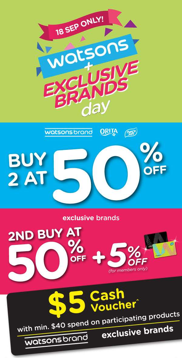 Watsons + Exclusive Brands Day!