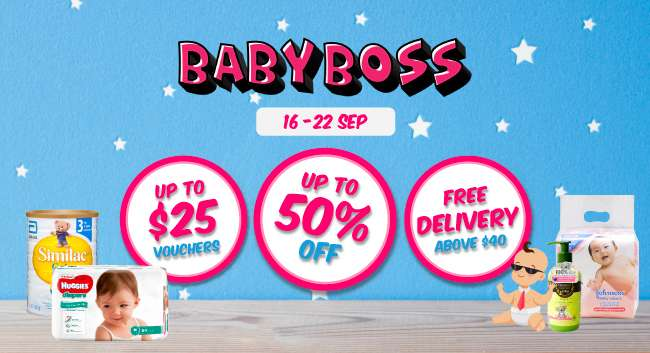 Baby Boss | 16 - 22 Sep | Up to 50% off | Up to $25 Vouchers | Free Delivery above $40