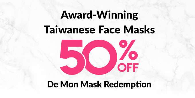 50% Off De Mon Mask Redemptions with any purchase