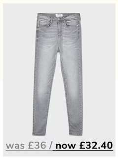 LIZZIE High Waist Super Skinny Grey Jeans