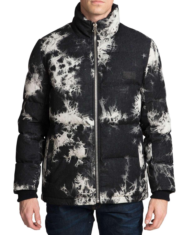 Men's Tie-Dye Puffer Jacket