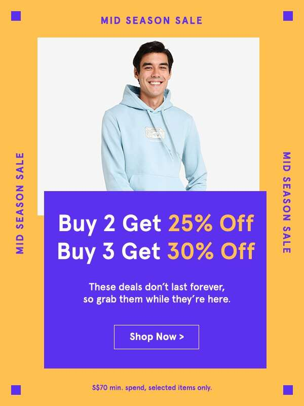 Buy 2 Get 25% Off Buy 3 Get 30% Off