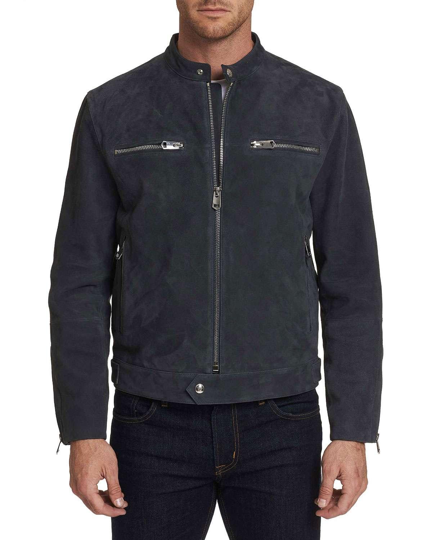 Men's Marnetas Suede Zip-Front Jacket