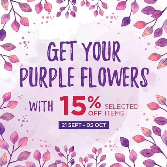 15% OFF - Get Your Purple Flower