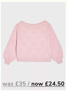 Rose Recycled Yarn Bardot Jumper