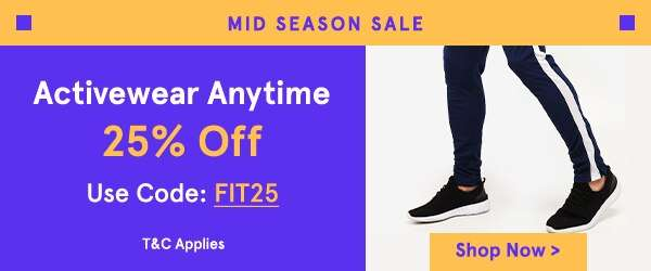 Activewear Anytime 25% Off